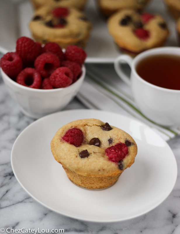 Chocolate Chip Raspberry Muffins   ChezCateyLou.com