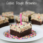 Funfetti Cookie Dough Brownies | ChezCateyLou.com