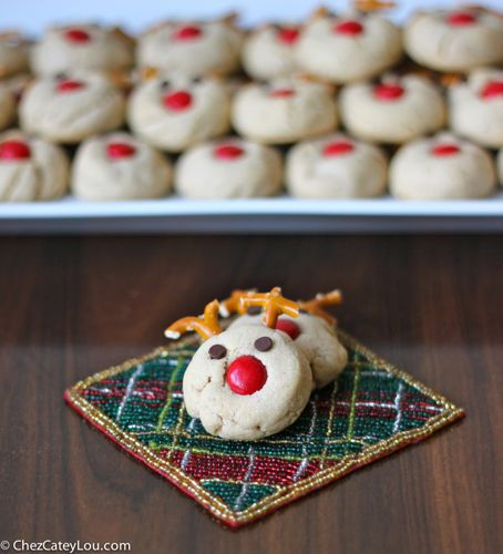 Peanut Butter Reindeer Cookies | ChezCateyLou.com