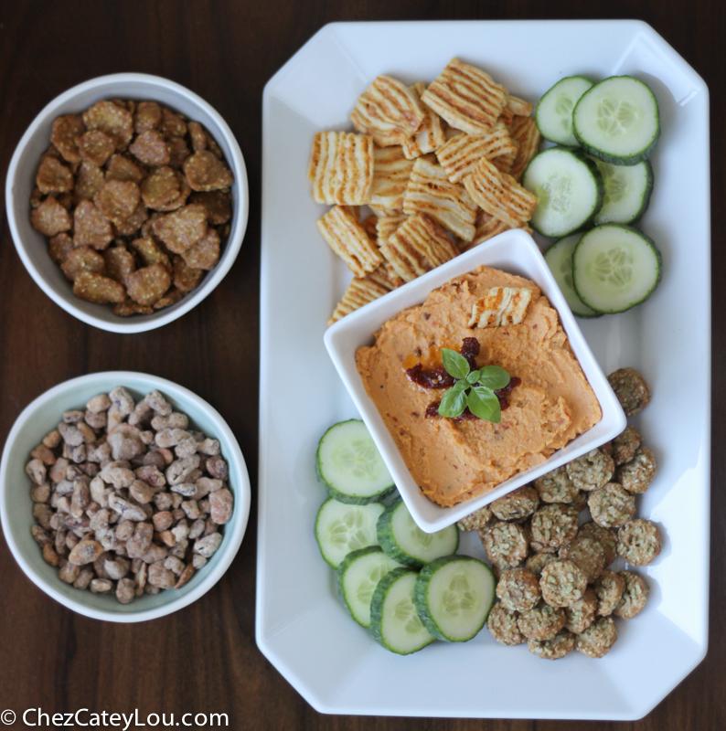 Sundried Tomato Hummus | ChezCateyLou.com #snack #appetizer #hummus