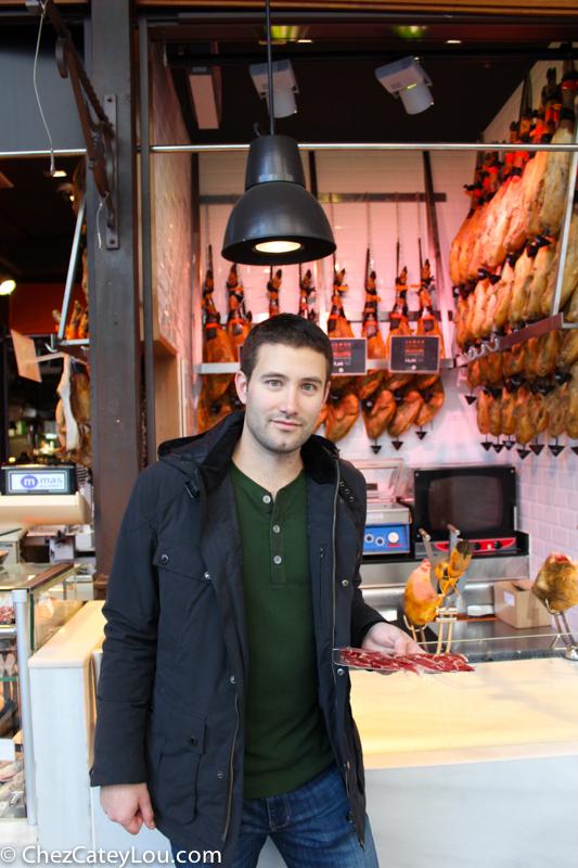 Jamon at Mercado de San Miguel Madrid, Spain | ChezCateyLou.com