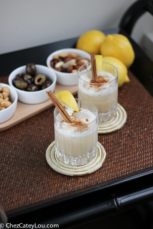 Aero Whiskey Sour Cocktail | ChezCateyLou.com