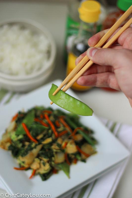 Easy Fried Rice with Asian Vegetables #EatSmartVeggies | ChezCateyLou.com