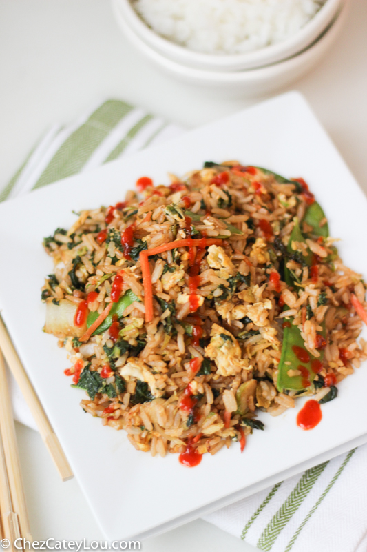 Easy Fried Rice with Asian Vegetables #EatSmartVeggies | ChezCateyLou.com