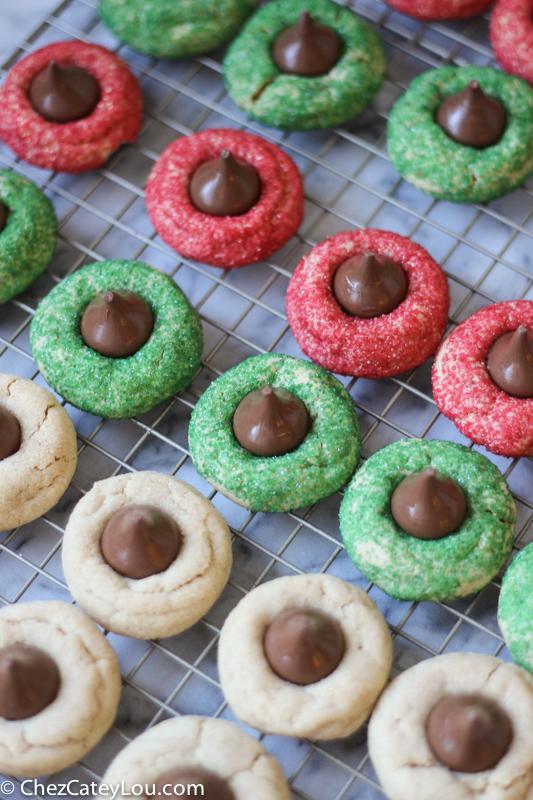 Peanut Butter Blossoms Christmas Cookies | ChezCateyLou.com
