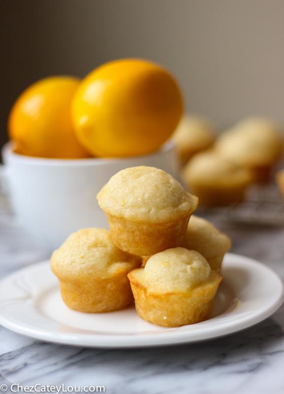 Meyer Lemon Mini Muffins | ChezCateyLou.com