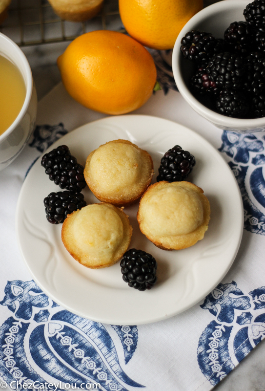 Meyer Lemon Mini Muffins | ChezCateyLou.com
