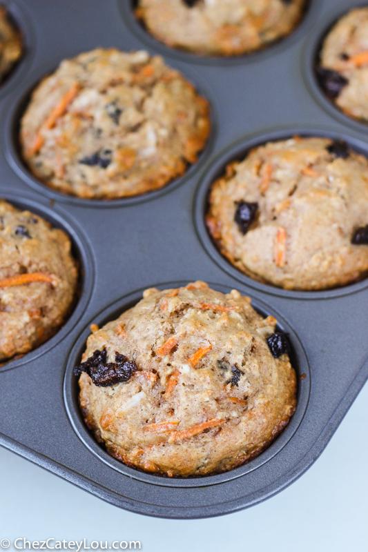 Skinny Carrot Cake Muffins | ChezCateyLou.com
