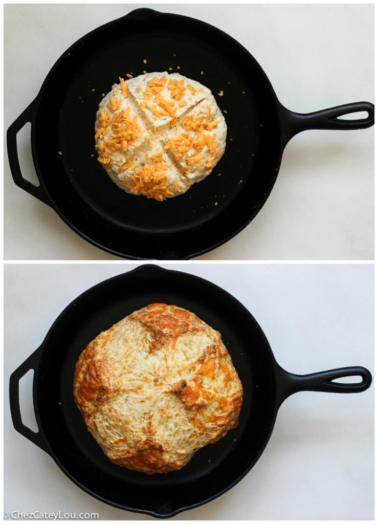Cheesy Irish Soda Bread made with Kerrygold Dubliner Cheese | ChezCateyLou.com