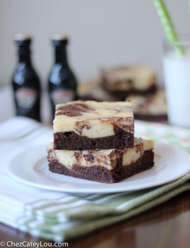 Baileys Irish Cream Cheesecake Brownies | ChezCateyLou.com