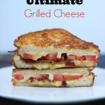Grilled Cheese with Tomato and Bacon on Brioche Bread - the Ultimate Grilled Cheese | ChezCateyLou.com