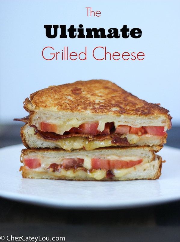 Grilled Cheese with Tomato and Bacon on Brioche Bread | ChezCateyLou.com