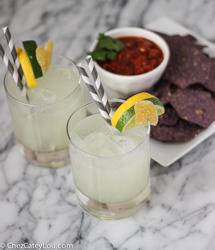 Lemon Lime Ginger Margaritas | ChezCateyLou.com