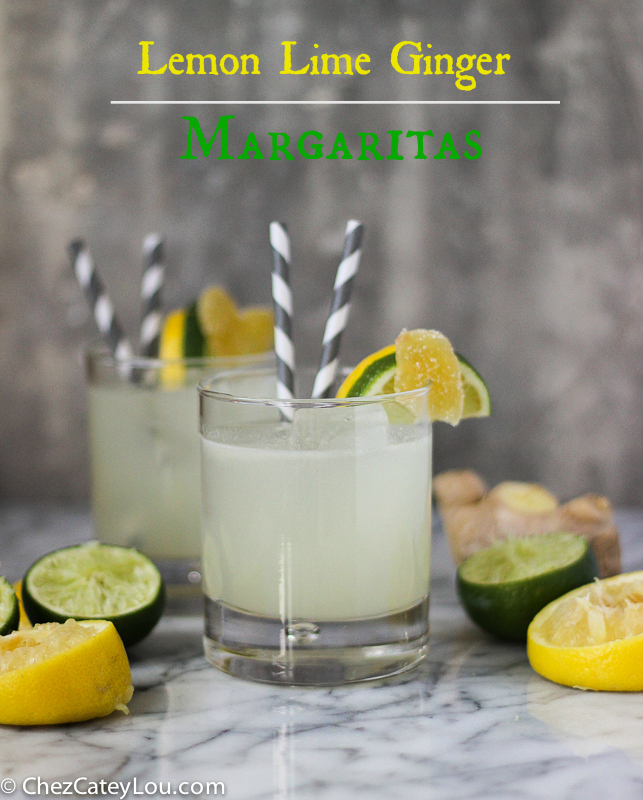 Lemon Lime Ginger Margaritas | ChezCateyLou.com