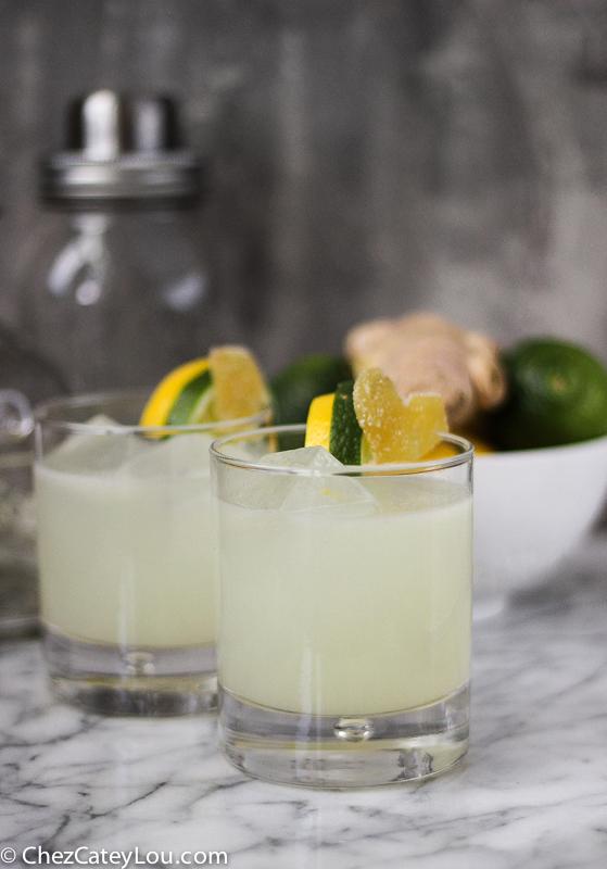 Lemon Lime Ginger Margaritas