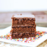 Texas Chocolate Sheet Cake | ChezCateyLou.com