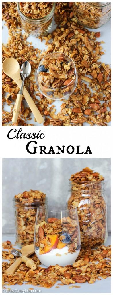 Classic Granola | ChezCateyLou.com