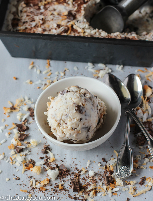 Dairy Free Toasted Coconut Ice Cream | ChezCateyLou.com