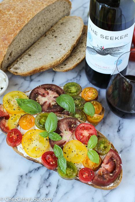 Tomato Ricotta Toast | ChezCateyLou.com