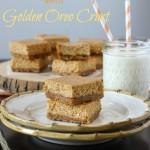 Pumpkin Cheesecake Bars with a Golden Oreo Crust | ChezCateyLou.com
