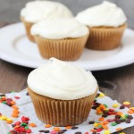 Pumpkin Cupcakes with Cream Cheese Frosting | ChezCateyLou.com