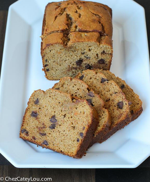 Chocolate Chip Sweet Potato Bread | ChezCateyLou.com
